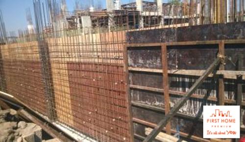 Lắp dựng cốp pha vách hầm (1-9-A-B), Khối 1